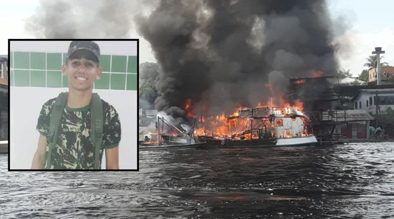 Morre militar que teve 80% do corpo queimado em explosão de balsa no interior do Amazonas