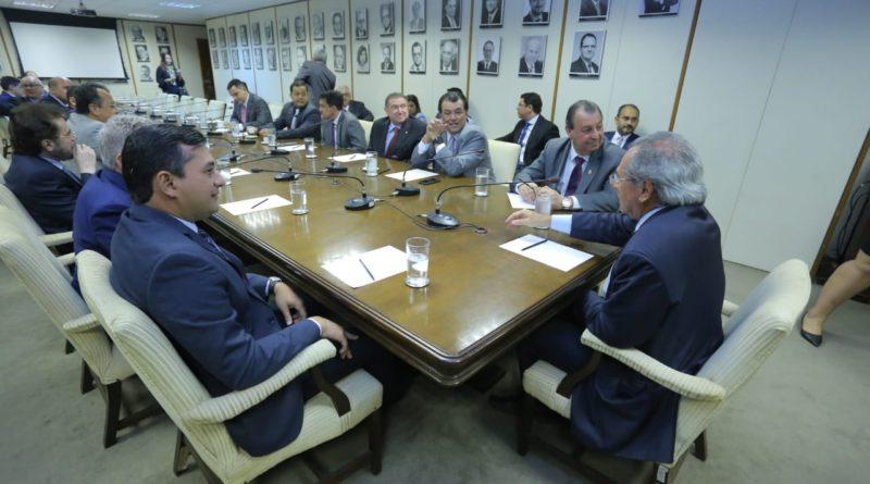 Em reunião com Paulo Guedes, Wilson Lima defende ZFM e liberação de R$ 300 milhões da Suframa